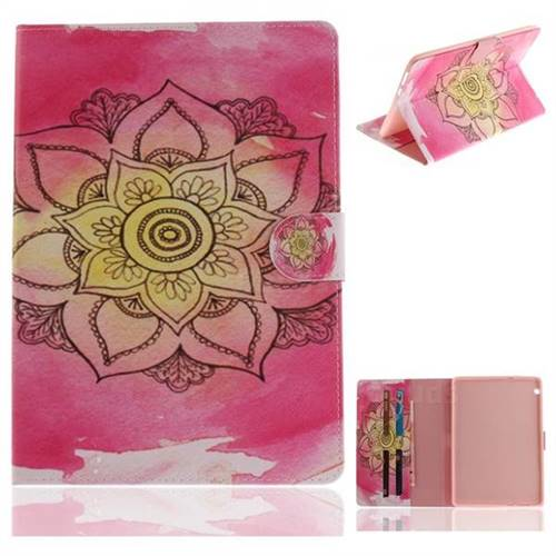 Pink Rose Painting Tablet Leather Wallet Flip Cover for Huawei MediaPad T3 10
