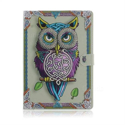 Weave Owl Painting Tablet Leather Wallet Flip Cover for Huawei MediaPad T3 10 - Leather Case - Guuds