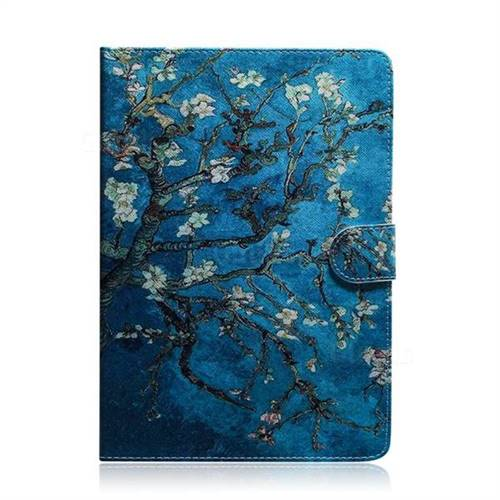Apricot Tree Painting Tablet Leather Wallet Flip Cover for Huawei MediaPad  T5 (10 1 inch)