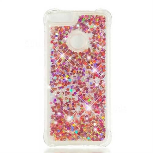 discount sale b1c06 88236 Dynamic Liquid Glitter Sand Quicksand TPU Case for Huawei P Smart(Enjoy 7S)  - Rose Gold Love Heart