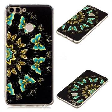 Circle Butterflies Super Clear Soft TPU Back Cover for Huawei P Smart(Enjoy 7S)