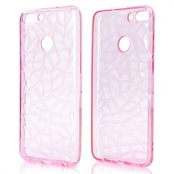 Diamond Pattern Shining Soft TPU Phone Back Cover for Huawei P Smart(Enjoy 7S) - Pink