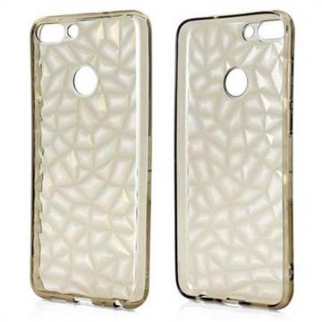 Diamond Pattern Shining Soft TPU Phone Back Cover for Huawei P Smart(Enjoy 7S) - Gray