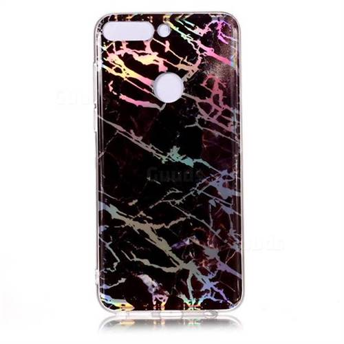 0476e396a9f2 Black Brown Marble Pattern Bright Color Laser Soft TPU Case for Huawei P  Smart(Enjoy 7S) - TPU Case - Guuds