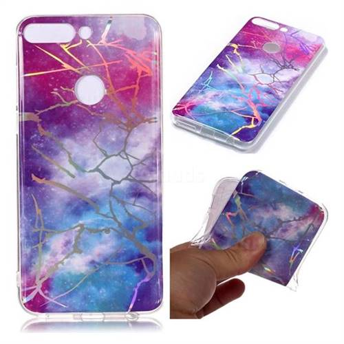 3db6cf8bad32 Dream Sky Marble Pattern Bright Color Laser Soft TPU Case for Huawei P Smart (Enjoy