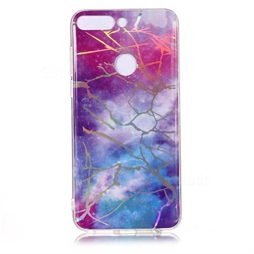 8b9a98251304 Dream Sky Marble Pattern Bright Color Laser Soft TPU Case for Huawei P Smart (Enjoy 7S) - TPU Case - Guuds
