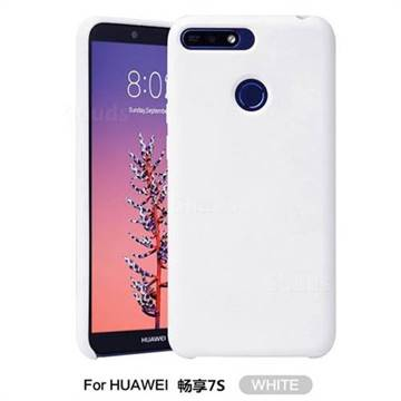 low priced e11d3 57b58 Howmak Slim Liquid Silicone Rubber Shockproof Phone Case Cover for Huawei P  Smart(Enjoy 7S) - White