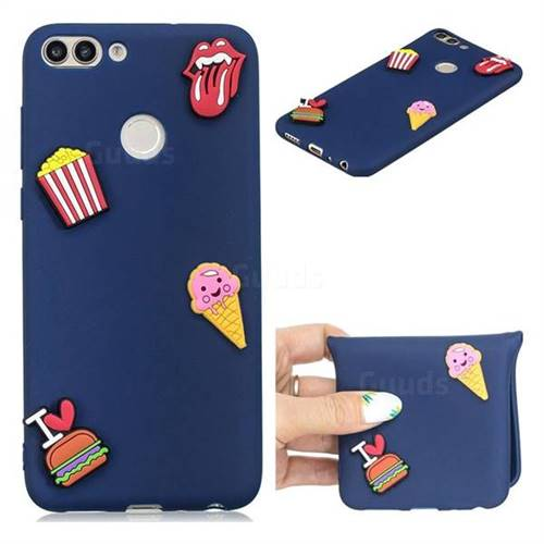 I Love Hamburger Soft 3D Silicone Case for Huawei P Smart(Enjoy 7S)