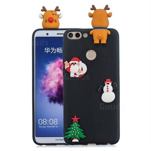 Black Elk Christmas Xmax Soft 3D Silicone Case for Huawei P Smart(Enjoy 7S)