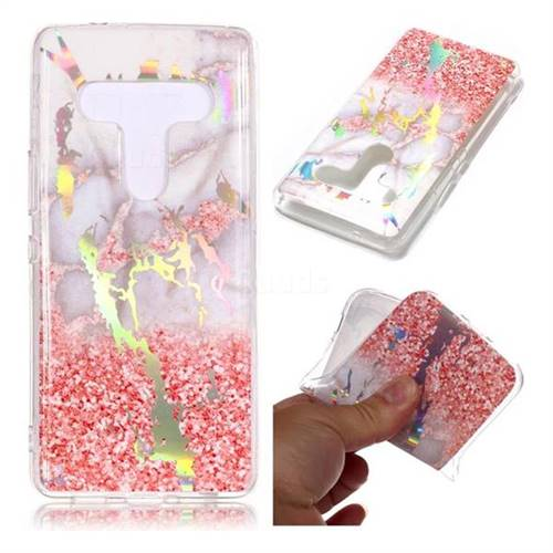 Powder Sandstone Marble Pattern Bright Color Laser Soft TPU Case for HTC U12+