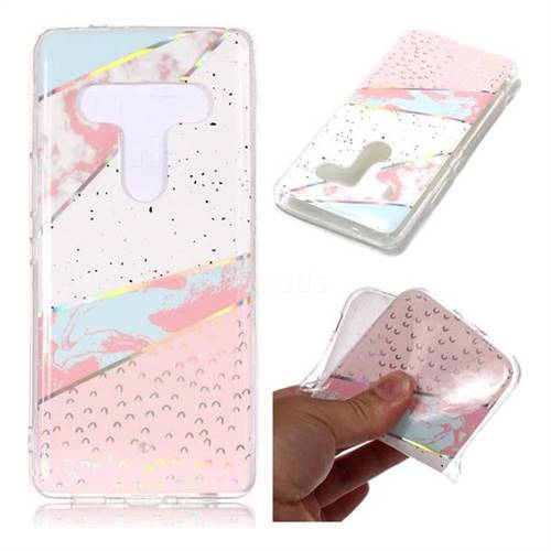 Matching Color Marble Pattern Bright Color Laser Soft TPU Case for HTC U12+