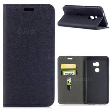 Tree Bark Pattern Automatic suction Leather Wallet Case for HTC One X10 X 10 - Black