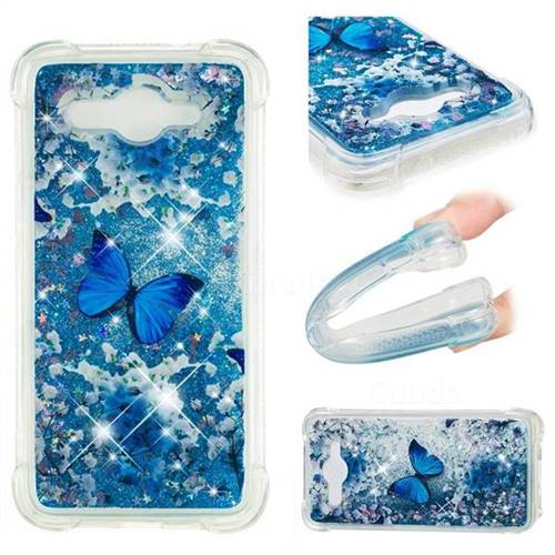 Flower Butterfly Dynamic Liquid Glitter Sand Quicksand Star TPU Case for Huawei Y3 (2017)