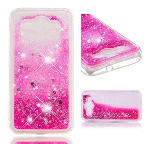 Dynamic Liquid Glitter Quicksand Sequins TPU Phone Case for Huawei Y3 (2017) - Rose