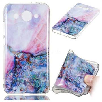 Purple Amber Soft TPU Marble Pattern Phone Case for Huawei Y3 (2018)