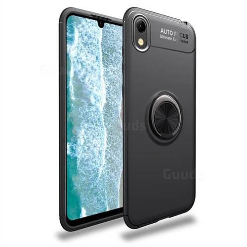 Auto Focus Invisible Ring Holder Soft Phone Case for Huawei Y5 (2019) - Black