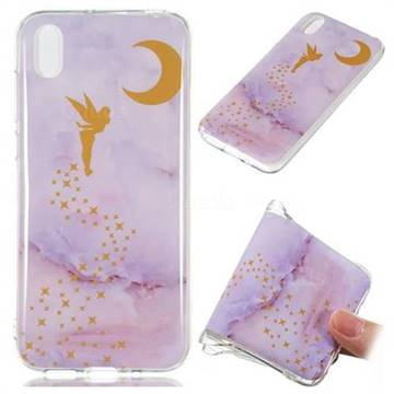 Elf Purple Soft TPU Marble Pattern Phone Case for Huawei Y5 (2019)