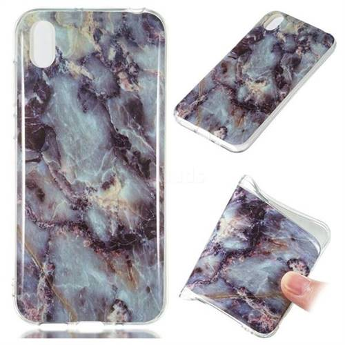 Rock Blue Soft TPU Marble Pattern Case for Huawei Y5 (2019)