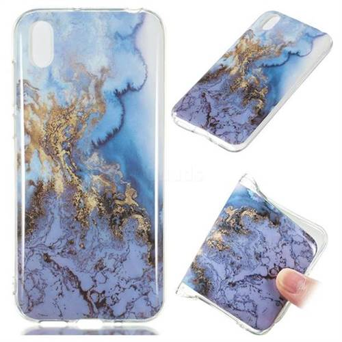 Sea Blue Soft TPU Marble Pattern Case for Huawei Y5 (2019)