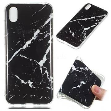 Black Rough white Soft TPU Marble Pattern Phone Case for Huawei Y5 (2019)