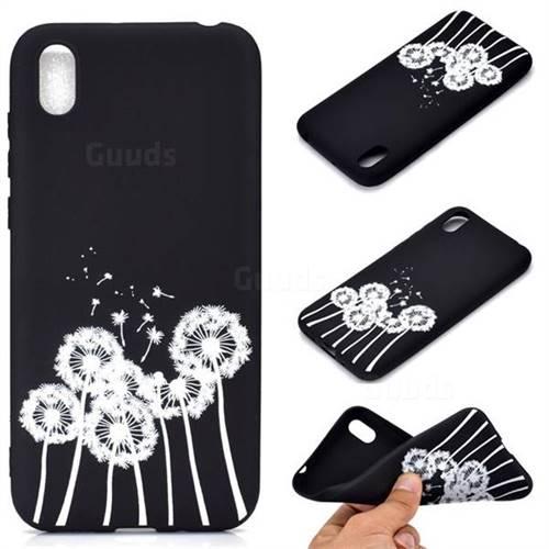 Dandelion Chalk Drawing Matte Black TPU Phone Cover for Huawei Y5 (2019)