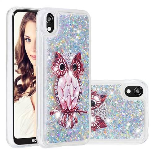 Seashell Owl Dynamic Liquid Glitter Quicksand Soft TPU Case for Huawei Y5 (2019)