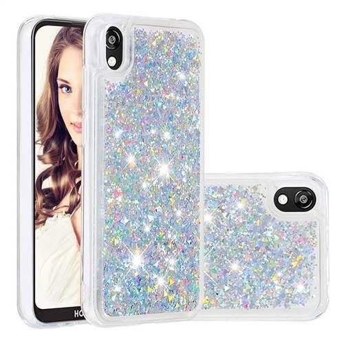 Dynamic Liquid Glitter Quicksand Sequins TPU Phone Case for Huawei Y5 (2019) - Silver