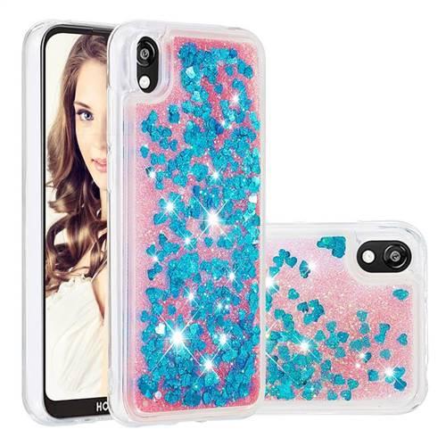 Dynamic Liquid Glitter Quicksand Sequins TPU Phone Case for Huawei Y5 (2019) - Blue