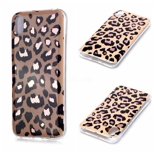 Leopard Galvanized Rose Gold Marble Phone Back Cover for Huawei Y5 (2019)
