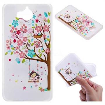 Tree and Girl 3D Relief Matte Soft TPU Back Cover for Huawei Y5 (2017)