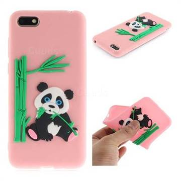 huge discount b7627 f6650 Panda Eating Bamboo Soft 3D Silicone Case for Huawei Y5 Prime 2018 (Y5 2018  / Y5 Lite 2018) - Pink