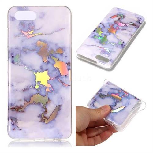Blue Marble Pattern Bright Color Laser Soft TPU Case for Huawei Y5 Prime 2018 (Y5 2018)