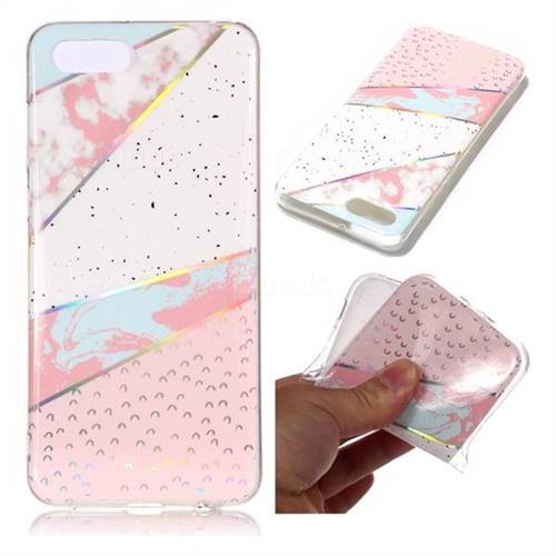 Matching Color Marble Pattern Bright Color Laser Soft TPU Case for Huawei Y5 Prime 2018 (Y5 2018 / Y5 Lite 2018)
