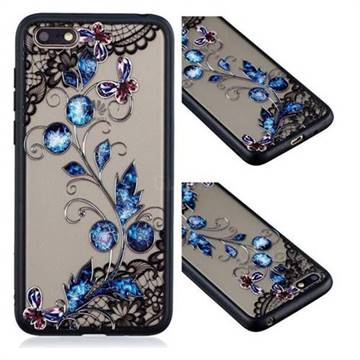 Butterfly Lace Diamond Flower Soft TPU Back Cover for Huawei Y5 Prime 2018 (Y5 2018 / Y5 Lite 2018)