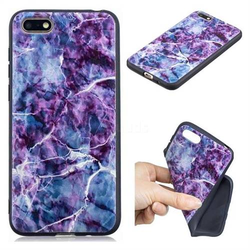Marble 3D Embossed Relief Black TPU Cell Phone Back Cover for Huawei Y5 Prime 2018 (Y5 2018 / Y5 Lite 2018)