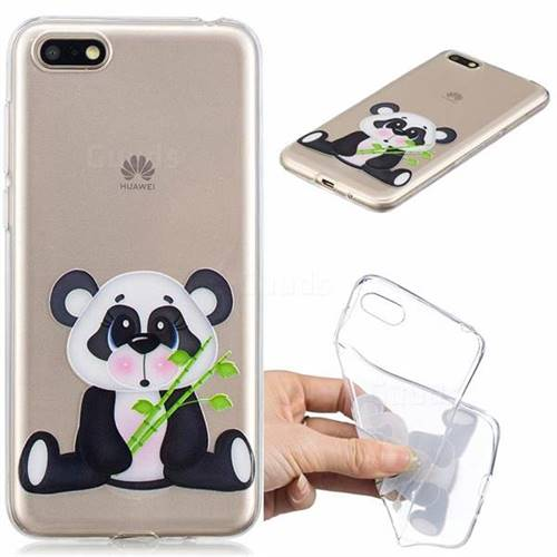 Bamboo Panda Clear Varnish Soft Phone Back Cover for Huawei Y5 Prime 2018 (Y5 2018)