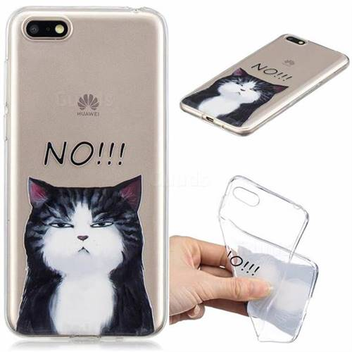 No Cat Clear Varnish Soft Phone Back Cover for Huawei Y5 Prime 2018 (Y5 2018)