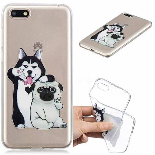 Selfie Dog Clear Varnish Soft Phone Back Cover for Huawei Y5 Prime 2018 (Y5 2018)