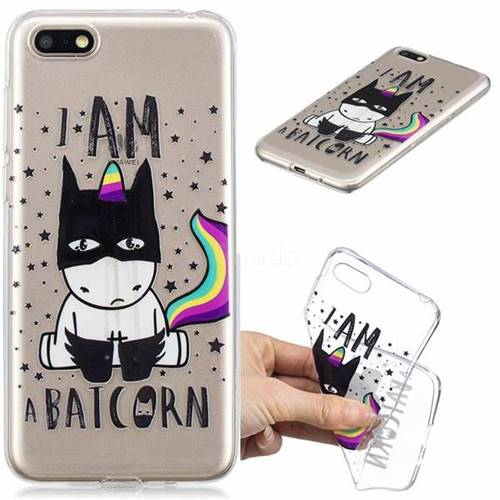 Batman Clear Varnish Soft Phone Back Cover for Huawei Y5 Prime 2018 (Y5 2018)