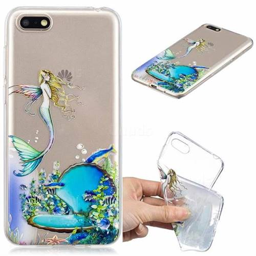 Mermaid Clear Varnish Soft Phone Back Cover for Huawei Y5 Prime 2018 (Y5 2018)