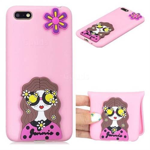 Violet Girl Soft 3D Silicone Case for Huawei Y5 Prime 2018 (Y5 2018)