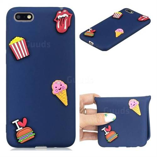 I Love Hamburger Soft 3D Silicone Case for Huawei Y5 Prime 2018 (Y5 2018)