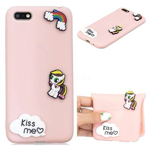 Kiss me Pony Soft 3D Silicone Case for Huawei Y5 Prime 2018 (Y5 2018)