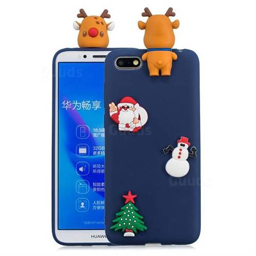 Navy Elk Christmas Xmax Soft 3D Silicone Case for Huawei Y5 Prime 2018 (Y5 2018 / Y5 Lite 2018)