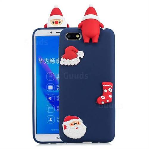 Navy Santa Claus Christmas Xmax Soft 3D Silicone Case for Huawei Y5 Prime 2018 (Y5 2018)