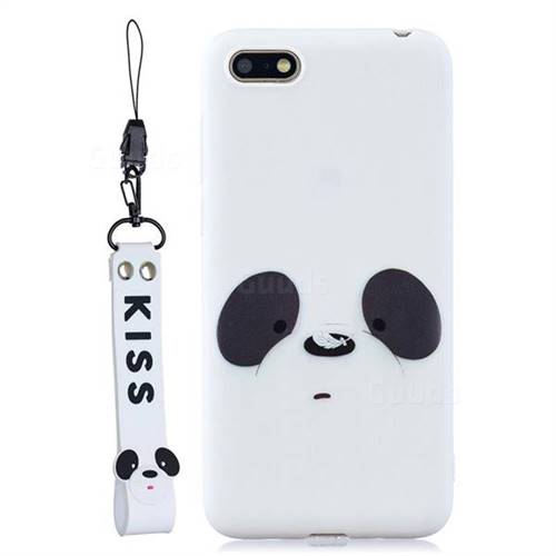White Feather Panda Soft Kiss Candy Hand Strap Silicone Case for ...