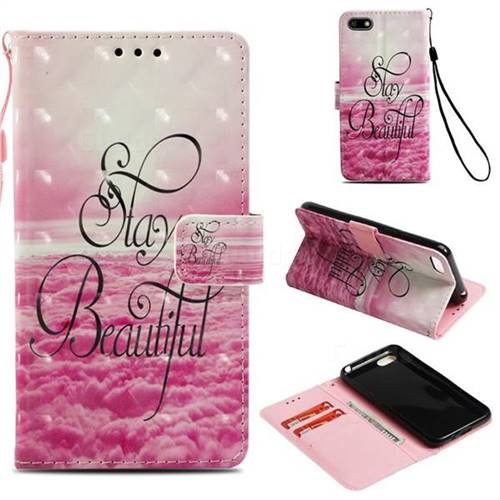 Beautiful 3D Painted Leather Wallet Case for Huawei Y5 Prime 2018 (Y5 2018)