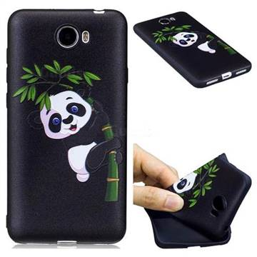 best website 7e207 5324c Bamboo Panda 3D Embossed Relief Black Soft Back Cover for Huawei Y5II Y5 2  Honor5 Honor Play 5
