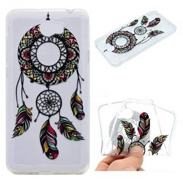 Feather Black Wind Chimes Super Clear Soft TPU Back Cover for Huawei Y5II Y5 2 Honor5 Honor Play 5