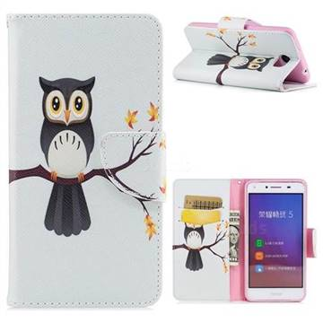 Owl on Tree Leather Wallet Case for Huawei Y5II Y5 2 Honor5 Honor Play 5